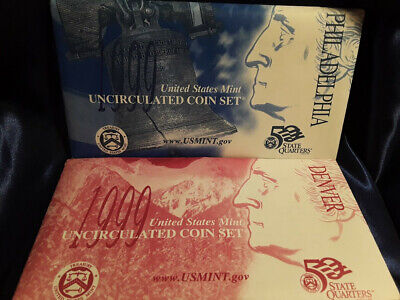 1999 P & D United States Mint Uncirculated Coin Set  State Quarters 20 coins