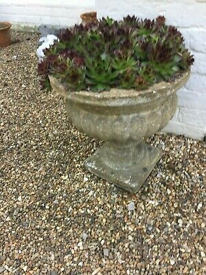 Vintage 70's concrete Garden Planter weathered nicely