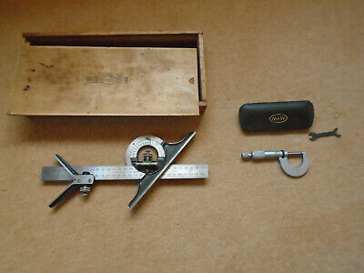 Moore and Wright Combination Set and Micrometer