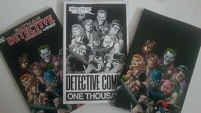 Detective Comics # 1000 FP Brian Bolland Color B&W & Virgin Set - Dc Comics