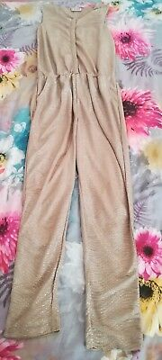 Girls All In One Trouser Gold Playsuit. Size 9.next.gold.sparkely.glittery....