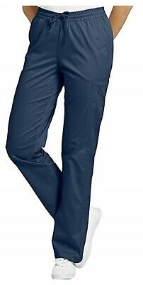 d71533a80f8 Allure by White Cross Women's Elastic Waist Cargo Scrub Pant Small Petite  Navy