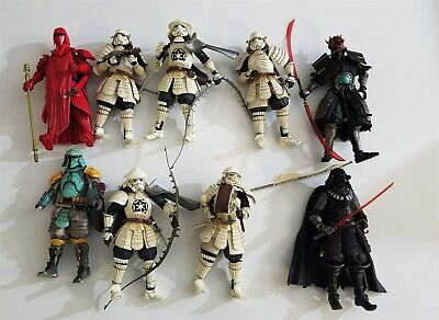 Star Wars Lot of (9) Movie Realization Bandai Figures Darth Vader Stormtroopers