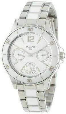 Pulsar PP6021 Women's Chronograph Stainless Steel Silver-Tone Dress Watch