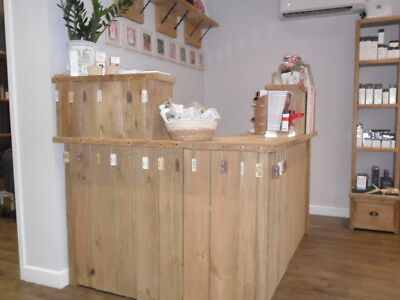 Reception desk / counter. Hand built.Made using reclaimed materials Solid Pine
