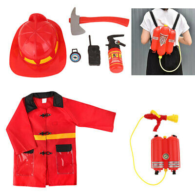 7pcs Kids Role Play Costume Fireman Set Pretend Role Play Firefighter Toy