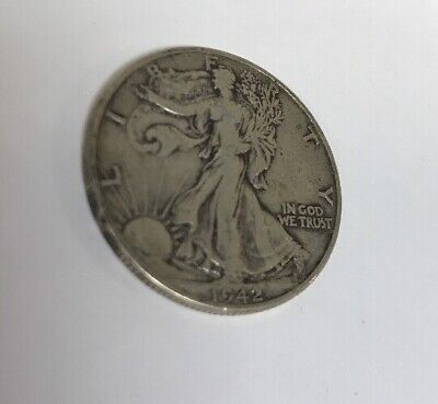 "A 1942 P Walking Liberty Half Dollar 90% SILVER US Mint ""Above Average"" Fine Z2"