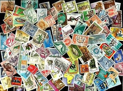 100  AFRICA     STAMPS selection mostly different off paper good used as scan