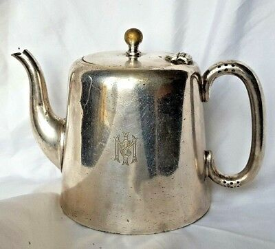 Antique Silver Plate Marked [ S.A & Co -EP- A1 ] & [ MIC ] Silver Plate Teapot