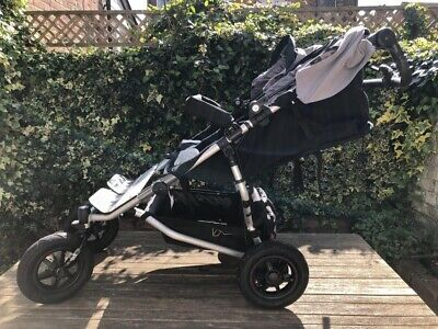 Mountain Buggy Duet v3 Double Pushchair with Carrycot Plus and all Rain-Covers