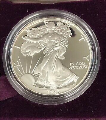1986-S AMERICAN SILVER EAGLE PROOF No Box or COA