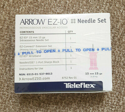 Arrow EZ-IO intraosseous needle set 15 mm (Nov 2020 Expiry Date)