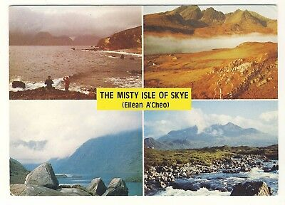 Old Postcard (1988) - The Misty Isle of Skye (Eilean A'Cheo) (Vario- Posted M174