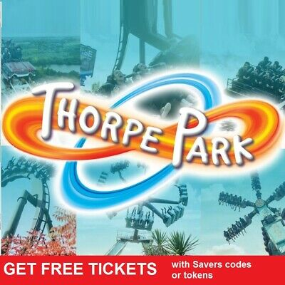 2 X Thorpe Park Tickets  -  All 9 Codes for Online Booking Pick Up Your Own Date
