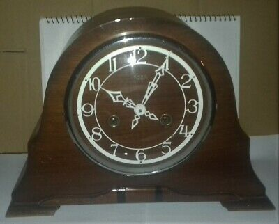 Collectable Vintage Napoleon Hat Smiths Enfield Wooden Clock.