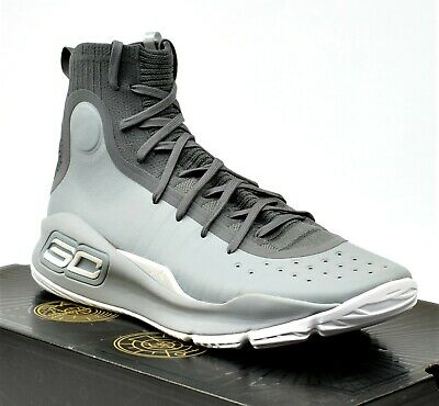 low cost 82c84 fea4e UA UNDER ARMOUR CURRY 4 - New Men's Basketball Shoes Stephen Grey White  Sneakers