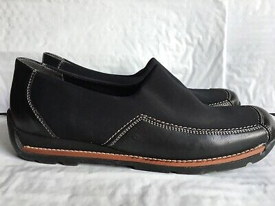 RIEKER ANTISTRESS TRAINERS Black Suede Lace Up Shoes Womens 38