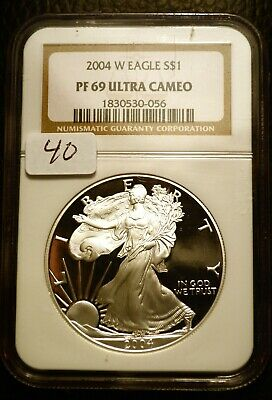 2006 Silver $1 ASE American Eagle NGC PF69 UCAM $60 Blast White Luster (40)