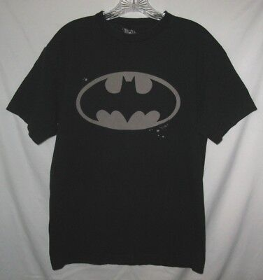 """BatMan"" Black Graphic Cotton Short Sleeve T-Shirt, Size Medium"