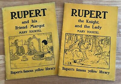 MARY TOURTEL FAMOUS YELLOW LIBRARY  RUPERT & Margot, Knight & The Lady VG 1949