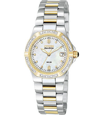 Citizen Women's Watch Stainless Steel Twotone Eco-Drive With Diamonds Ew0894-57D
