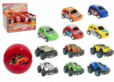 Surprise Car Ball (6.5)cm Kids Racers Pull Back Sensory Toy -1x Assorted Color