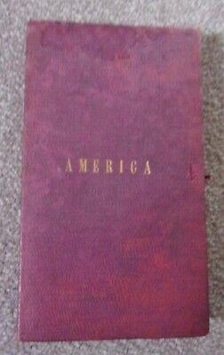 Antique Map By A.K. Johnston.Sectional Linen Map of South America.(Lincolnshire)