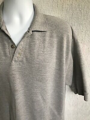 Levis Jeans Vintage Mens Polo Shirt Metal Buttons L XL Gray Heavy Duty