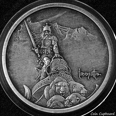 "2014 - Frazetta's ""Silver Warrior"" 1 oz .999 silver BU"
