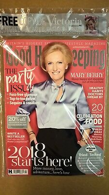 Good Housekeeping Magazine January 2018 The Party Issue Mary Berry - New