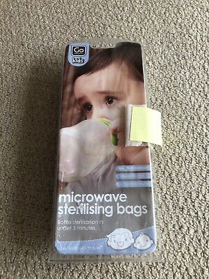 Go Travel Kids Sterilising Microwave Bags 6 Bags (60 uses)