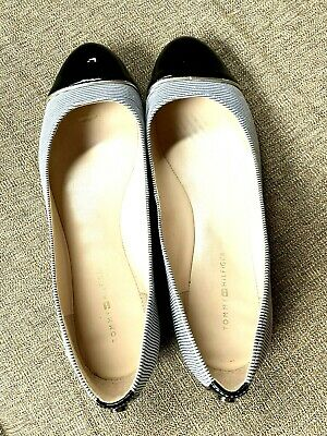 04f154e6c TOMMY HILFIGER BALLET Flat Shoes Womens Sz 7.5M Black Good Condition ...