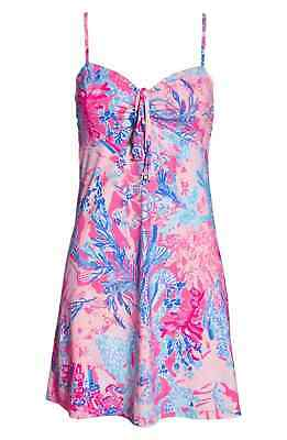 8f2af555f342f NWT LILLY PULITZER Pink Floral MARGARETE Swim-Suit Dress Cover-up Beach  Pool M