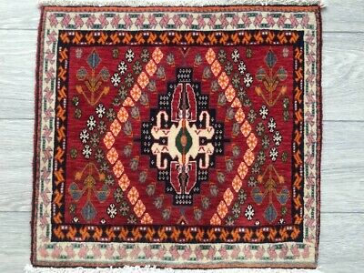 FINE HAND MADE SHIRAZ PERSIAN RUG, Beautiful RED CARPET (2FT X 1FT) CLEANED