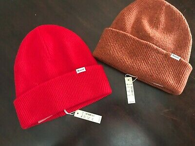new tag Madewell Cuffed Beanie Merino Wool Red or Rusty Torch pick your color