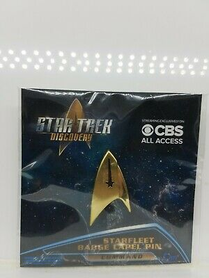 Star Trek Discovery Starfleet Badge Command Lapel Pin QMx Quantum Mechanix Disco