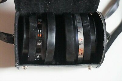 Yashica Auxiliary Telephoto & Wide Angle 1:4 Lens Set lenses w/case Y710