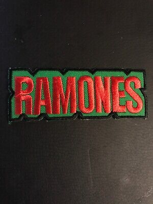 """RAMONES  Embroidered Applique Patch~Iron or Sew On APPROX. 3.75""""X1.5"""""""