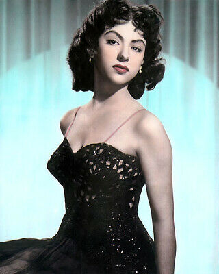 "RITA MORENO PUERTO RICAN SINGER DANCER ACTRESS 8x10"" HAND COLOR TINTED PHOTO"