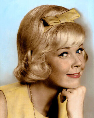 """Doris Day Hollywood Actress Singer Movie Star 8X10"""" Hand Color Tinted Photo"""