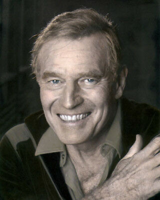 "CHARLTON HESTON MOVIE STAR HOLLYWOOD ACTOR 8x10"" HAND COLOR TINTED PHOTOGRAPH"