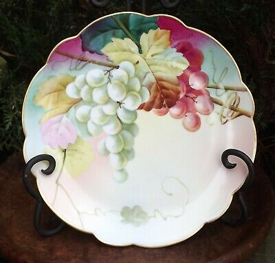 Antique Vienna Hand Painted Cabinet Plate, Artist Signed 7-3/4""
