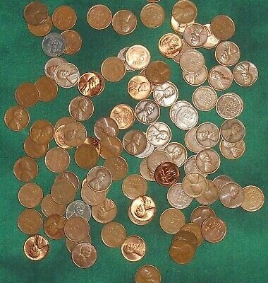 Unsearched lot 2 rolls of Wheat Cents Penny teens - 1958 - Nice collection #43