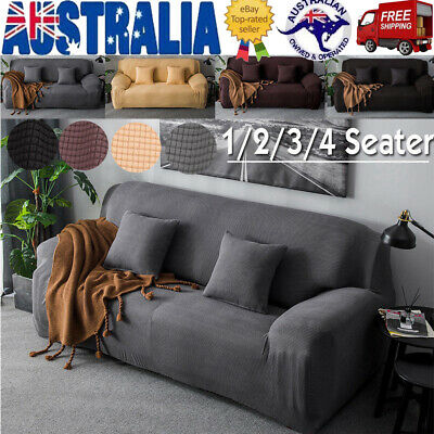 Sofa Covers Lounge Recliner 1 2 3 4 Seater Dining Chair Cover Thick Fleece AU