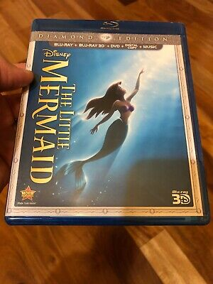The Little Mermaid (Blu-ray/DVD+ 3D 2013, Diamond Edition) NO Digital Code