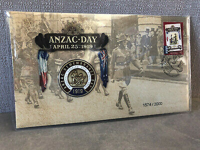 New Mint Sealed ANZAC Remembrance 2019 Limited Collectors Medallion Cover Pack