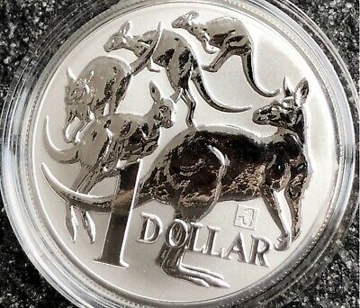 Lot Of 5 (Five) 2019 1 Oz Australia Mob Of Roos Merlion Privy Silver Coin Bu.