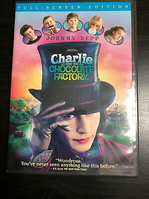 Charlie and the Chocolate Factory (DVD, 2005, Full Frame)