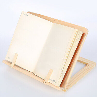 Portable Bookshelf Reading Rest Stand Foldable Wooden Adjustable For IPad Book