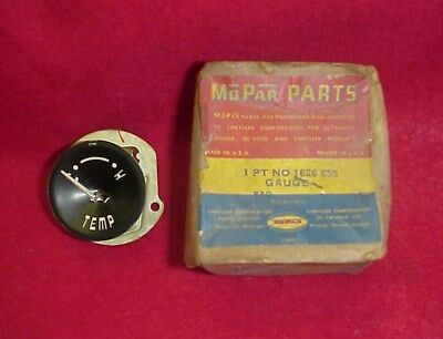 Nos 1955 55 Dodge Coronet Custom Royal Temperature Temp Gauge Mopar 1626855